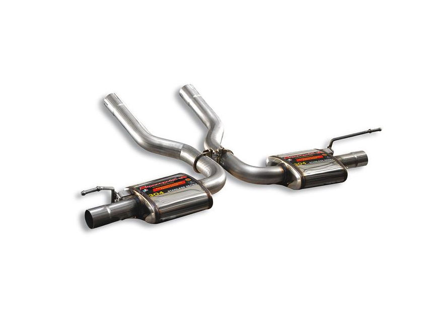 Supersprint Porsche Cayenne 955 Turbo Rear Exhaust For OEM Tips