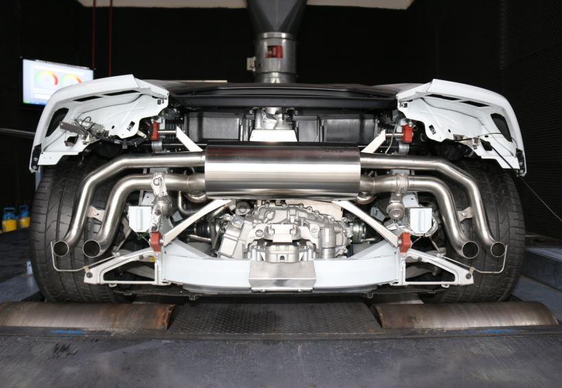 Lamborghini exhaust system