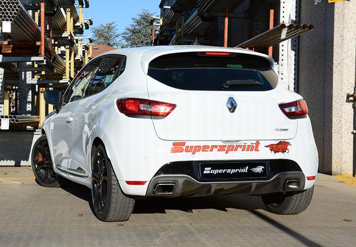 Fantastyczny Best Exhaust - Supersprint Renault Clio IV RS rear exhaust 874704 BG52