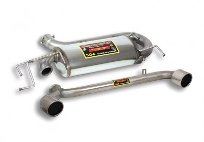 Audi TT mk1 Quattro VR6 rear exhaust with split round 100mm tips