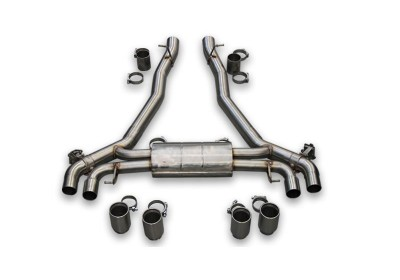 BMW M5 F90 rear exhausts with electric valves